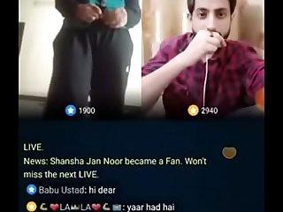 Pakistani Guy Ayan Ayub make a girl naked live on Bigo
